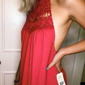 maxi/halter billabong dress!!